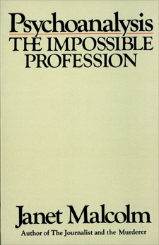 Psychoanalysis, Malcolm, Janet