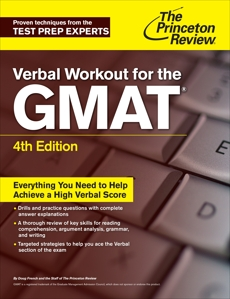 Verbal Workout for the GMAT, 4th Edition, The Princeton Review & Princeton Review (COR)