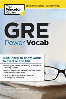 GRE Power Vocab, The Princeton Review