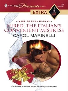 Hired: The Italian's Convenient Mistress, Marinelli, Carol