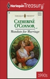 MANDATE FOR MARRIAGE, O'Connor, Catherine