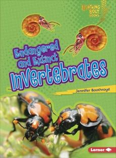 Endangered and Extinct Invertebrates, Boothroyd, Jennifer